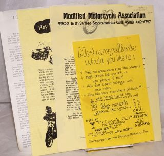 Modified Motorcycle Association [packet of 4 handbills