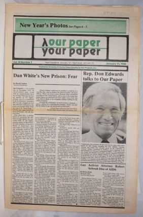 Our Paper, Your Paper; the gay family paper of the Santa Clara Valley; vol. 3, #1, January 11,...