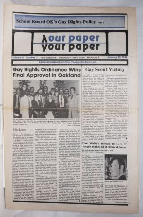 Our Paper, Your Paper; the gay family paper of the Santa Clara Valley; vol. 3, #2, January 25,...