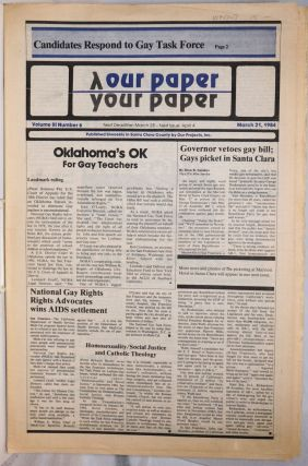 Our Paper, Your Paper; the gay family paper of the Santa Clara Valley; vol. 3, #6, March 21,...