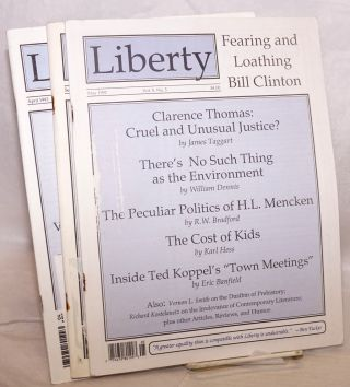 Liberty. [Three issues]. R. W. Bradford, and publisher