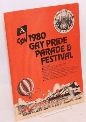 Christopher Street West 1980 Gay Pride Parade & Festival [program]. Jim Kepner
