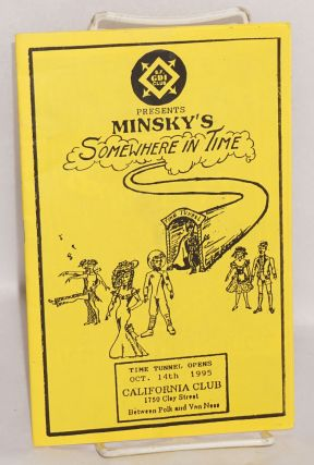 SFGDI Club presents; Minsky's Somewhere in Time; Oct. 14, 1995 California Club [playbill/program