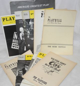 Collection of Playbills from various Tennessee Williams productions [13 playbills and 1 souvenir booklet]