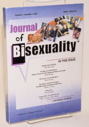Journal of bisexuality; volume 1, number 1
