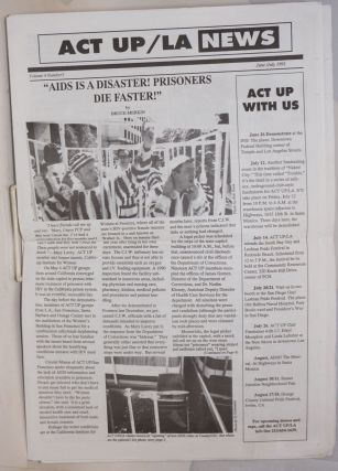 ACT UP/LA News vol. 4, #3, June/July 1991. Larry Day, Brad Confer, Act Up Los Angeles