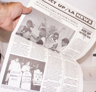 ACT UP/LA News vol. 4, #4, Sept/Oct 1991. Larry Day, Brad Confer, Act Up Los Angeles