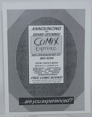 Handbill - Announcing our grand opening! Comix Experience [handbill] Are you experienced?