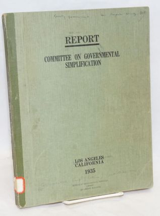 Report: Committee on Governmental Simplification