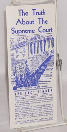 The Fact Finder. Vol. 22 no. 15 (June 15, 1964). The Truth About the Supreme Court. Harry T....