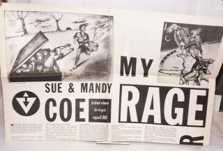 Sue & Mandy Coe: My Rage. Interview in NYC April 88 [broadsheet]
