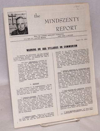 The Mindszenty report. [two issues