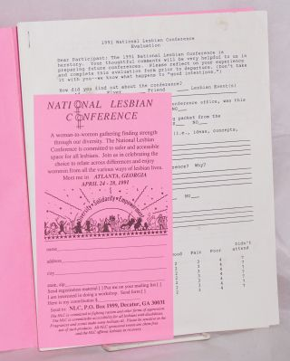 National Lesbian Conference: packet of papers and poster