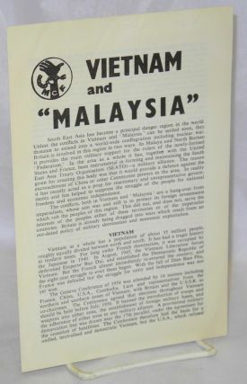 "Vietnam and ""Malaysia"" Movement for Colonial Freedom"