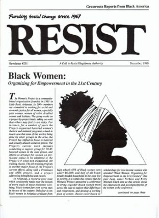 Resist, a call to resist illegitimate authority. Funding social change since 1967. Newsletter #231, December, 1990. Grassroots reports from Black America