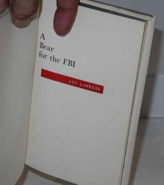 A Bear for the FBI a novel