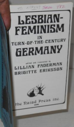 Lesbianism-feminism in turn-of-the-century Germany