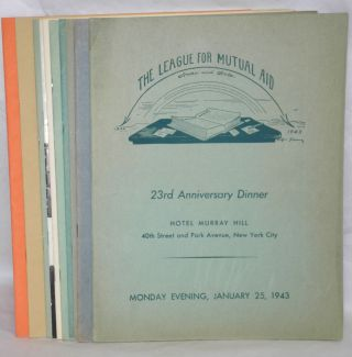 Ten different programs for anniversary dinners]. League for Mutual Aid