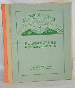 [Ten different programs for anniversary dinners]