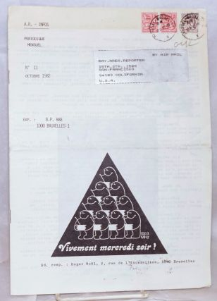 A. R. - Infos: periodique mensels; nos. 10 & 11, Septembre-Octobre 1982 (two issue run of the Antenne Rose newsletter)