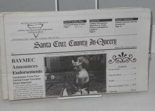 Santa Cruz in-queery: the official monthly publication of the Santa Cruz LGBT Community Center; vol. 9, no. 1 - 5 & 8, January - September 1996 [six issue broken run]