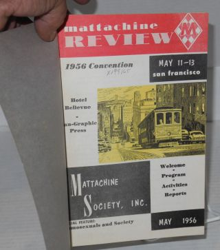 Mattachine review: vol. 2, #3A, May, 1956