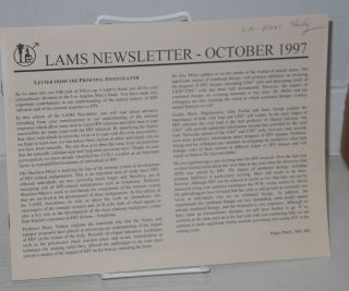 LAMS newsletter: February 1994, March 1995 & October 1997 [3 issues]