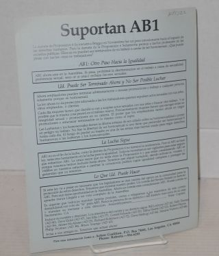 Support AB1 [handbill in English and Spanish]
