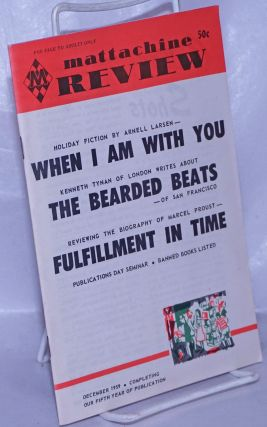 Mattachine Review: vol. 5, #12, December, 1959: The Bearded Beats of San Francisco. Hal Call,...