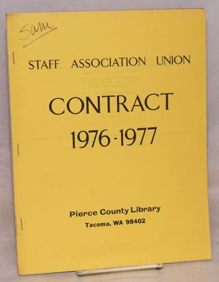 Contract 1976-1977. Pierce County Library, Tacoma WA 98402. Staff Association Union