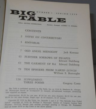 Big Table 1; Spring 1959