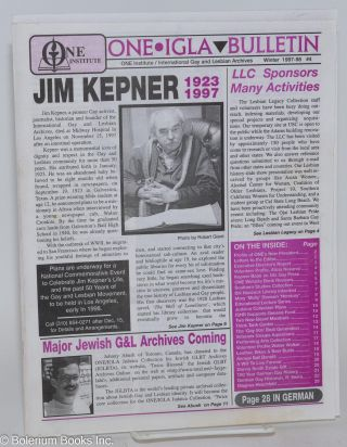 One IGLA bulletin issue 3-5, Fall 1997 - Summer 1998 [3 issue run]