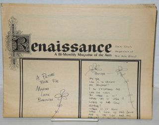 Renaissance: a bi-monthly magazine of the arts; May-June no. 1
