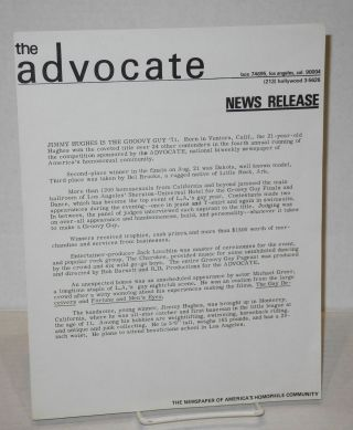 The Advocate: news release [single sheet