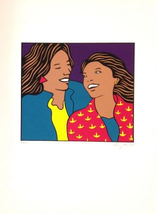 Sisters]. [screen print poster]. Nancy Hom, artist