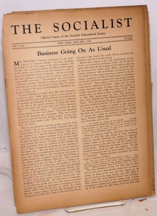 The Socialist [seven issues]