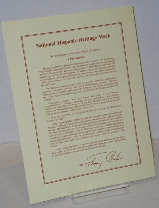 National Hispanic Heritage Week proclamation by the President of the United States of America...