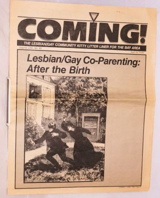Coming! The Lesbian/Gay community kitty litter liner for the Bay Area. Vol. 69, no. 69. April for...