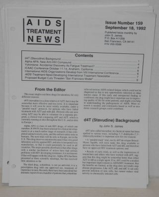 AIDS treatment news: published biweekly broken run of 30 issues