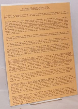 Group of five leaflets suggesting readings]. Committee for Radical Reading, Thurston Taylor...