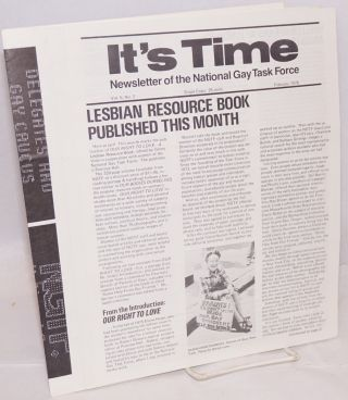 It's Time: monthly newsletter of the National Gay Task Force; [13 issue broken run]