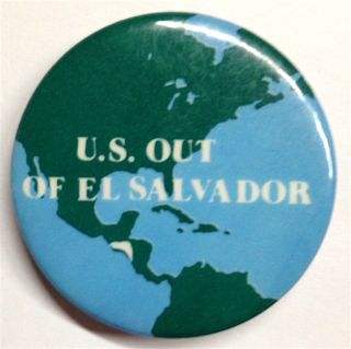 US out of El Salvador [pinback button