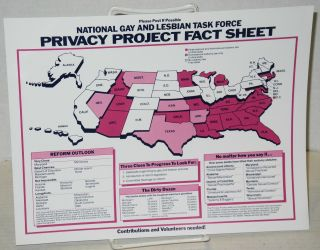 National Gay and Lesbian Task Force Privacy project fact sheet [handbill