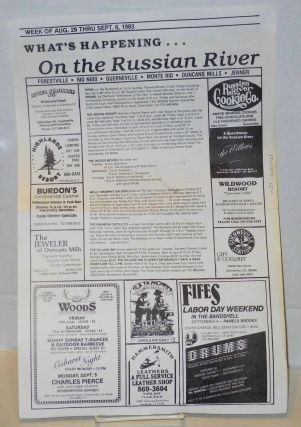 What's Happening . . . on the Russian River: week of Aug. 29 thru Sept. 6, 1983 Fortville.Rio...