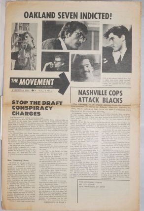 The Movement, Vol.4, No.2, February 1968. Joseph Blum, Arlene Eisen Bergman, eds