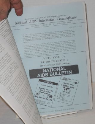 National AIDS bulletin: a monthly bulletin of events, information and reviews; vol. 2, # 10, November 1988; Medical and Scientific update, feature issue