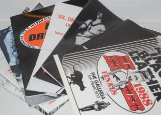 Mr. Drummer official program guides 1988-1998 [broken run of 8 issues]