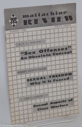 Mattachine Review: vol. 8, #8, August 1962: Sex Offenses; an obsolete concept. Harold Call,...