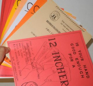Ten handbills/leaflets announcing rides and event 1984-1989. The Constantines Motorcycle Club Bay...