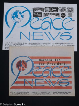 Peace News [Numbers 1 and 2